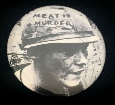 THE SMITHS Meat is Murder BIG BUTTON Vegan Vegetarian