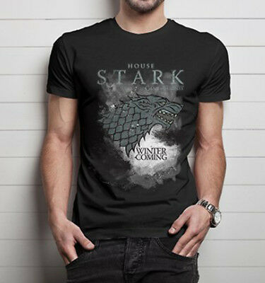 Official Game of Thrones House Stark Unisex Tshirt Fantasy Jon Snow Robb Stark