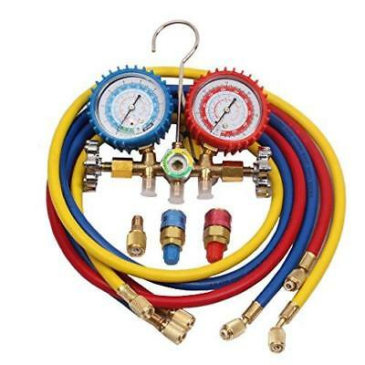 R134a Air Conditioning Line Repair Tools R12 R22 R502 AC A/C Manifold Gauge Set