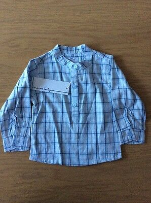 BNWT Boys Blue Checked Shirt By Newness Baby  (24 Months) **FREE UK P&P**