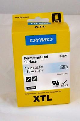 New DYMO XTL Label Cartridge 1868740 - Permanent Flat Surface Label 1/2""