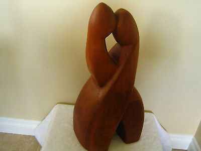 Vintage Danish Mid Century Abstract Wood Carved Sculpture  Modern Eames Era