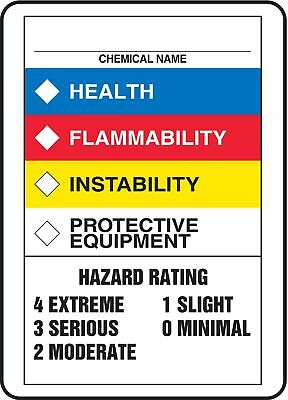 Accuform Chemical Label, 10 In. H, Plastic - ZFD844VP