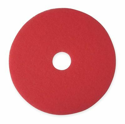 "3M 20"" Red Buffing and Cleaning Pad, Non-Woven Polyester Fiber, Package Quantity"