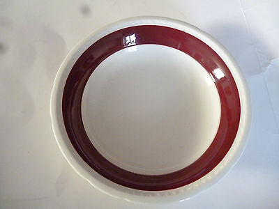 Swinnertons Majestic Vellum china bowl 8 ins plain burgundy rim replacement