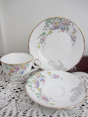 Vintage ''royal Stafford'' - Floral Cup Saucer Plate Trio