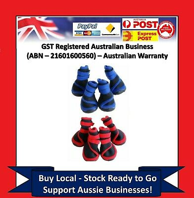 Dog Cat Shoes Red Blue Waterproof XXS,XS,S,M,L,XL,XXL Boots Booties Paws Injury.