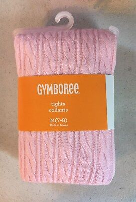 New Gymboree Pink Cable Pattern Knit Tights NWT M 7 8 L 10 12 XL 14 Year Girls
