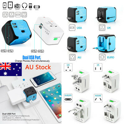 International Outlet Power Adapter Plug Universal USB Charger Converter Travel