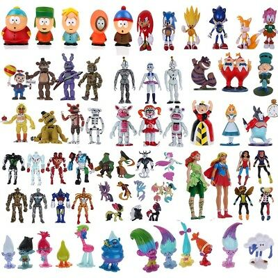 6-12pcs/SET Action Figures Super Wings South Park Moana Sing My Little Pony Gift