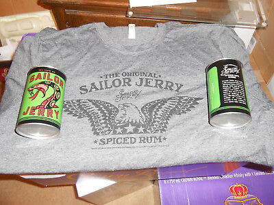 Sailor Jerry Oil Can Cup (Set of 2) & XL Tshirt