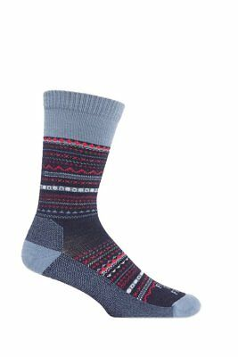 Farm to Feet Women's Conover Lightweight Crew Socks, US Blue/Wooly Blue, Small
