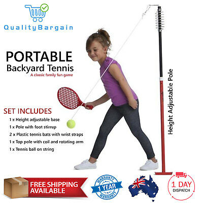 Backyard Totem Tennis Set - Kids Practice Game Pole Swing Ball Gift Outdoor Toys