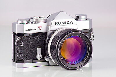 Preciosa Konica Autoreflex T + Hexanon 1.2 57  Excellent + Cla Serviced Tested