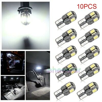 10Pcs T10 w5w 12V 8 SMD CANBUS hell KFZ PKW Innenraum Weiß LED Beleuchtung Lampe