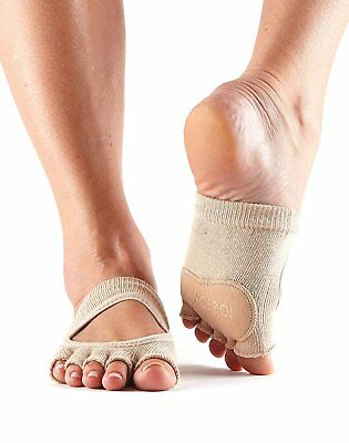 ToeSox Women's Releve Half Toe Grip for Dance, Yoga, Pilates, and Barre Toe With