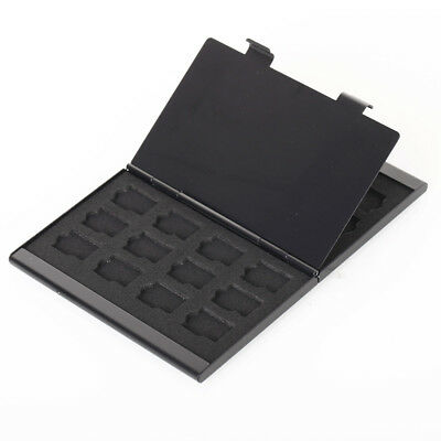 Black Aluminum Memory Card Storage Case Box Holders For Micro SD Card 24TF