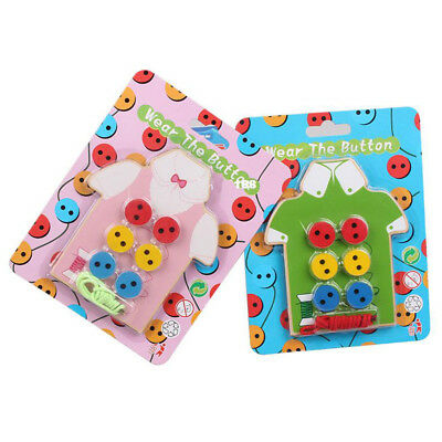 Children Beads Lacing Board Game Wooden Gifts Montessori Educational Toys TP72