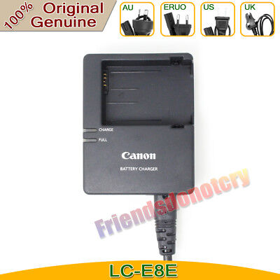 Original Genuine Canon LC-E8E Charger for LP-E8 Battery EOS 550D 650D 700D 600D