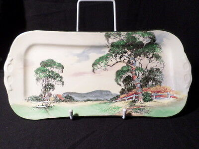 Royal Doulton. D5506. Gum Trees. Sandwich or Cake Plate. Made In England.