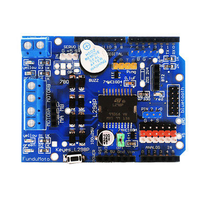L298P Motor Shield motor drives  for Arduino works with official Arduino boards