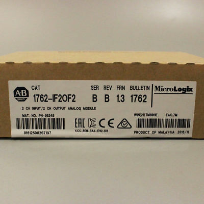 New In Box AB Allen Bradley 1762-IF2OF2 MicroLogix 4 Point Analog Comb Module