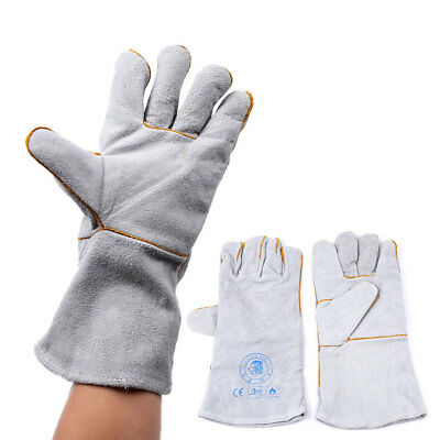 Fireproof Durable Leather Tig Welders Gauntlet Work Gloves Safety Workwear