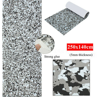 140cm x 250 x5mm Boat Marine Deck Self Adhesive Floor Teak Sheet Grey Camouflage
