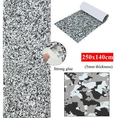 AU 250x140cmx5mm Boat Marine Deck Self Adhesive Floor Teak Sheet Grey Camouflage