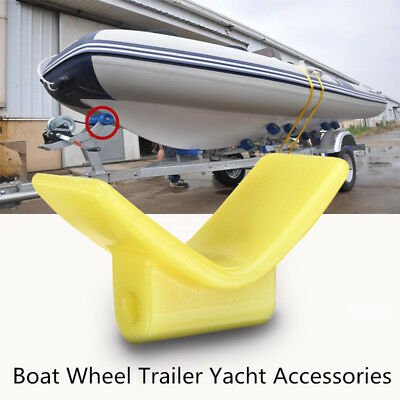 3 Inch Mounting Width Boat Wheel Trailer Molded V Bow Stop Keel Rubber Roller