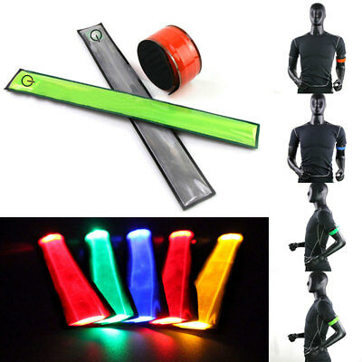 LED Night Reflective Flashing Belt Strap Arm Band Armband For Sports Running