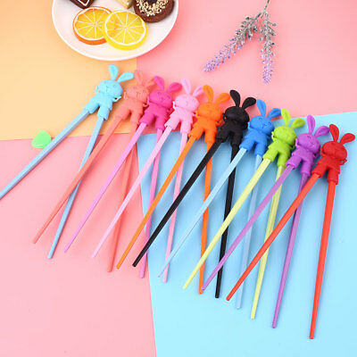 1 Pair Kids Children Training Helper Learning Rabbit Fun Cute Chopsticks