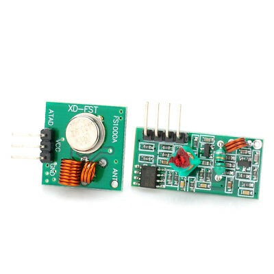 433Mhz Wireless RF Transmitter Module+ Receiver Board Kit for Arduino