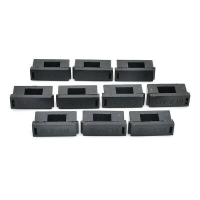 5 x 20mm PC Fuse Holders w/ Cover - Black (10 PCS)
