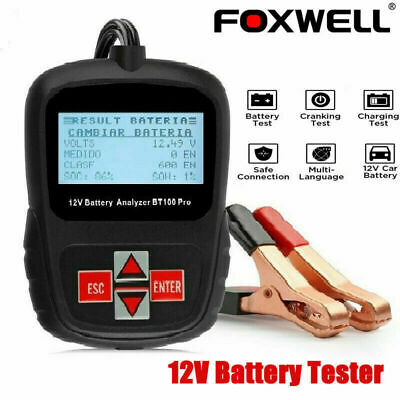 FOXWELL BT100 PRO 12V Car Battery Load Tester Automotive Digital Analyzer Tool