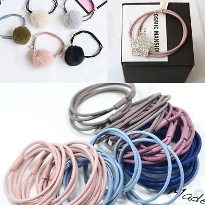 30Pcs Elastics Snag Free Hair Bands Ponytail Bobbles Ponios Hair Accessories