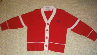 Vintage 1970's IZOD LACOSTE INFANTS TODDLERS CARDIGAN SWEATER XL FREE SHIPPING