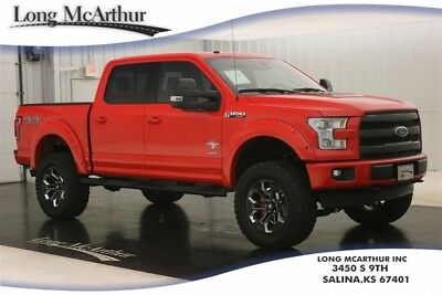 """2017 Ford F-150 LIFTED 4X4 BLACK WIDOW SUPERCREW SHORT BED 4WD LARIAT MSRP $73080 BLACK WIDOW 6"""" LIFT KIT TWIN PANEL MOONROOF LEATHER REMOTE START NAVIGATION"""