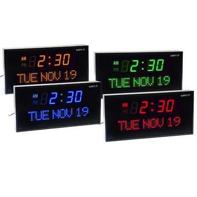 DBTech Big Oversized Digital LED Calendar Clock with Day and Date