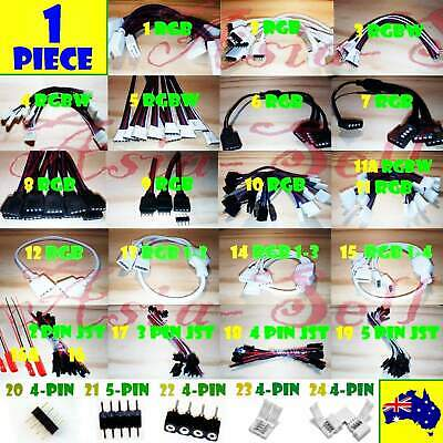 1pcs 2 Pin 3 pin 4 Pin 5 Pin RGB RGBW Cable LEDs Male Female LED Strip Header