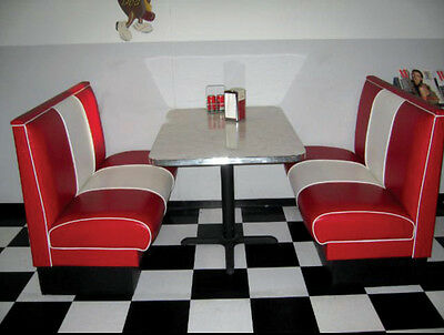 NEW Deluxe Double Banded Back Diner Booth Set , Restaurant, Cafe