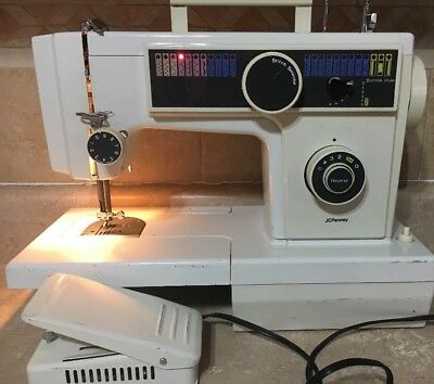 JCPENNEY FREE ARM Sewing Machine Model 40 WFoot Control Working Interesting Jcpenney Sewing Machine