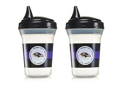 NFL Football Logo Baby Sippy Cup 2-Pack Baltimore Ravens BPA Free