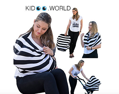 Car Seat Cover Nursing Breastfeeding Scarf Baby Cover Shopping Cart Kidoo New