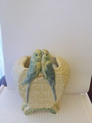 Kenisigton Pottery Chester shaped budgerigar vase c.1930s