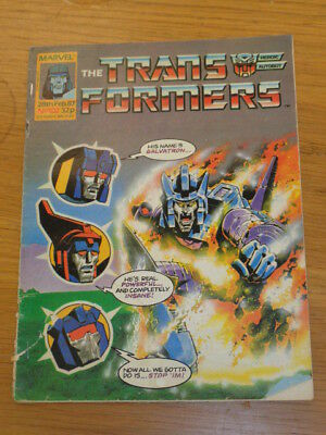 Transformers #102 28Th February 1987 British Weekly Marvel Uk Comic*