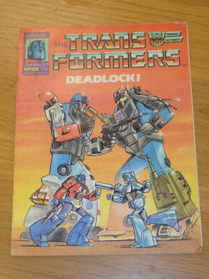 Transformers #105 21St March 1987 British Weekly Marvel Uk Comic*