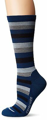 Icebreaker Merino Women's Lifestyle Light Crew Socks, Largo/Ice Blue/twister