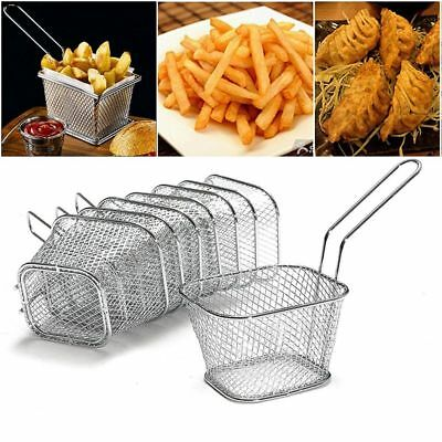 Fry Basket Strainer French Fries Basket Kitchen Cooking Tool Home Essential Nice