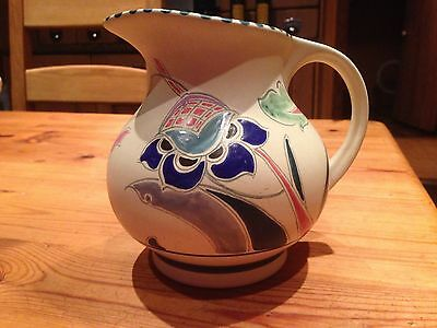 Honiton Pottery hand painted medium sized jug - 'Bicton'